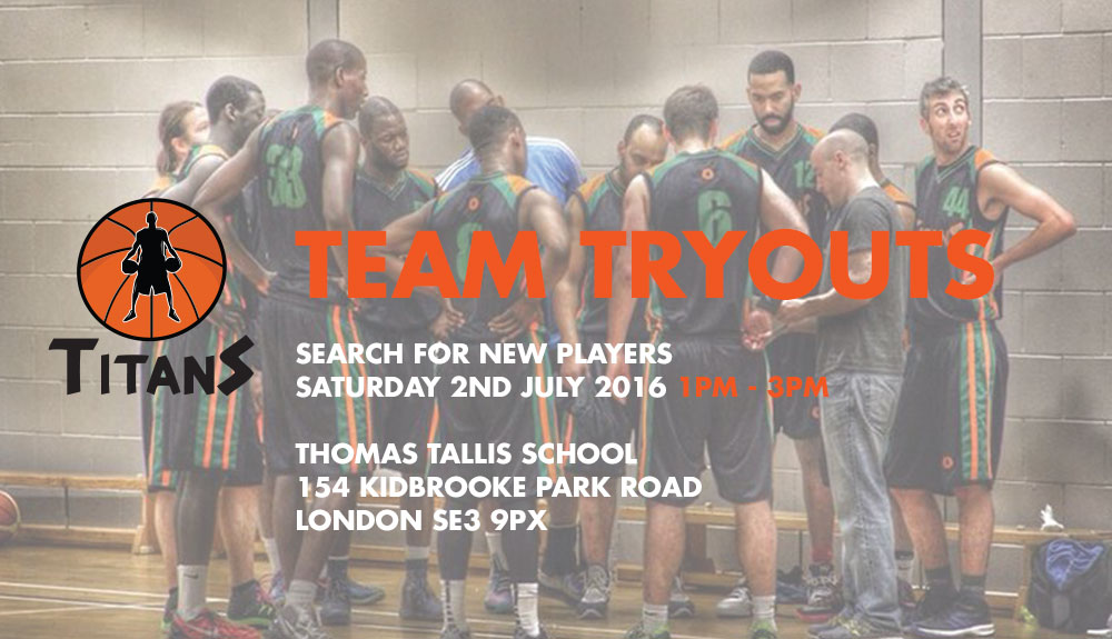 Titans Basketball Club Trials