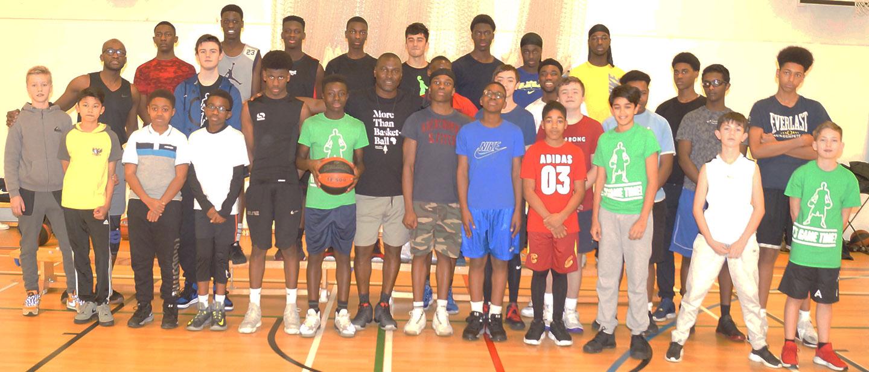 Toronto Raptors Scout, Mike Akuboh Visits Greenwich Titans